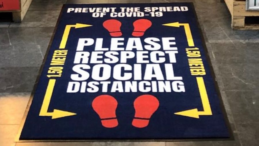 Social Distancing Message Mats