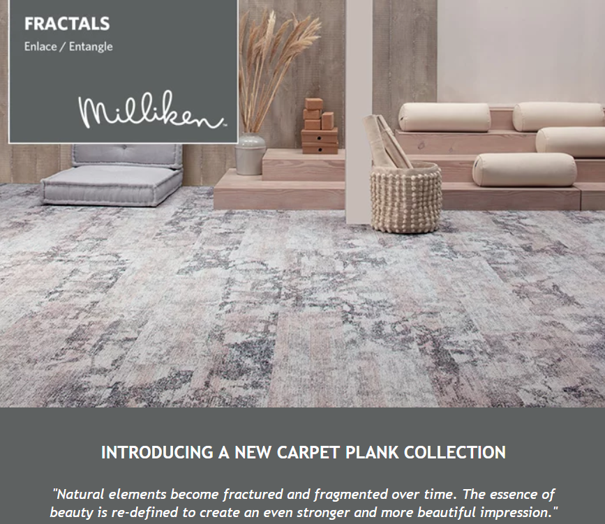 Fractals - A new Milliken carpet plank collection