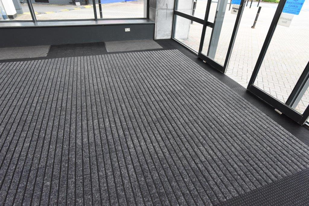 A new Milliken HD entrance mat fitted for Galway Shopping Centre