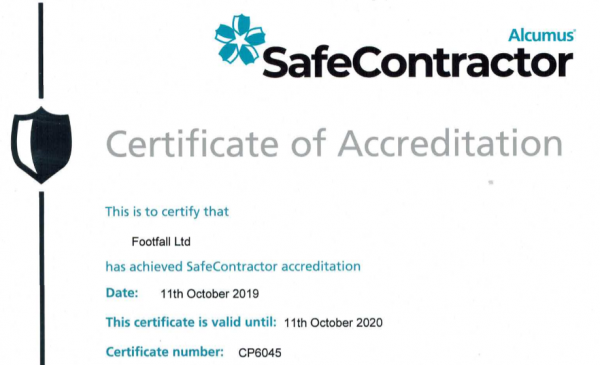 Footfall are delighted to successfully renew their SafeContract...